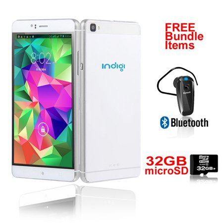 Indigi® 6.0in 3G Smartphone Android 5.1 WiFi + Google Play Store (AT&T T-Mobile Unlocked) w/ Bundled Items Included ()