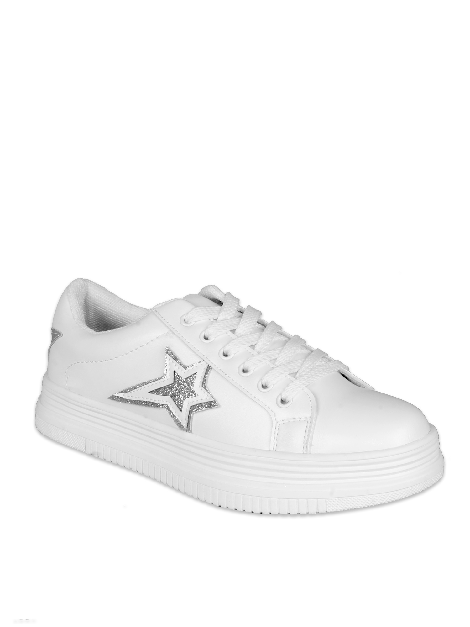 women's platform sneakers white