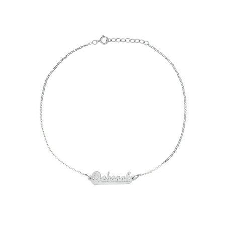 Personalized Sterling Silver Script Name (Script Name Bracelet)