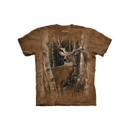 Brown Cotton Birchwood Buck Design Novelty Parody Adult T-Shirt