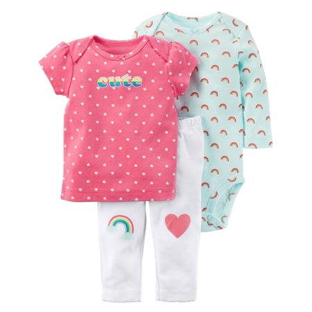 49f0daca6e9 Carter s Baby Girls  3-Piece Little Character Set