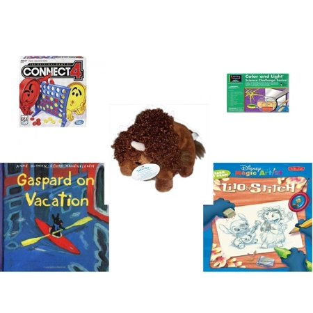 Children's Gift Bundle [5 Piece] -  Connect 4  - Learning Horizons Science Kit  - Tatanka Running Strong For American Indian Youth Buffalo  4