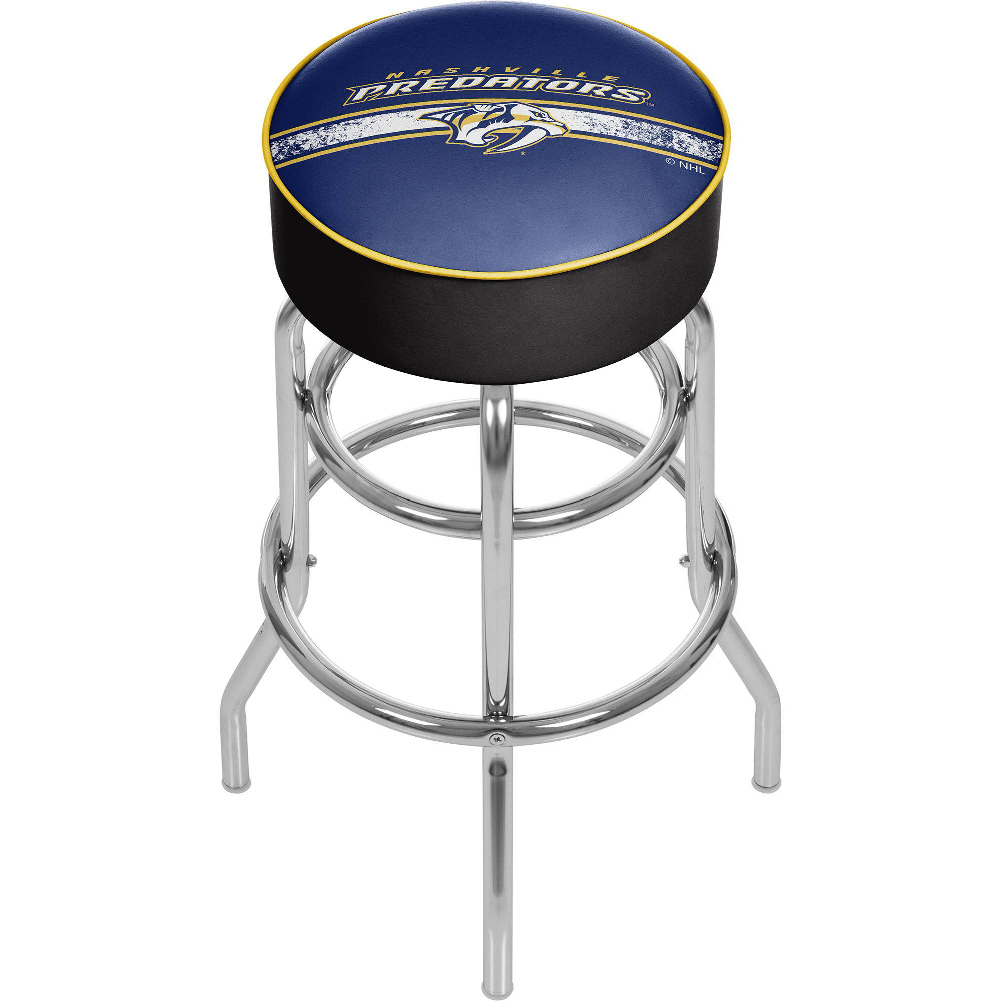 NHL Chrome Bar Stool with Swivel, Nashville Predators