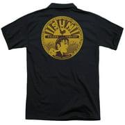 Sun Elvis Full Sun Label (Back Print) Mens Polo Shirt