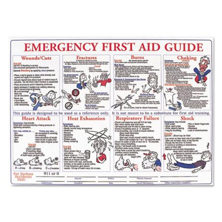 Lmt Hps128e Emergency First Aid Guide Poster  24 X 18 In