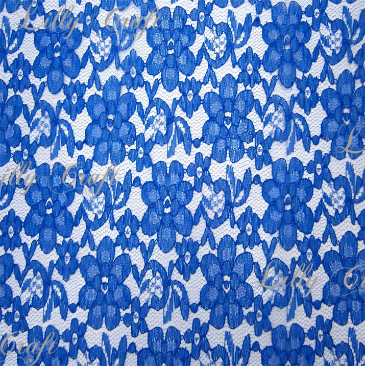 Royal Blue Rachelle Lace 58 Inch Fabric Sold by the Yard