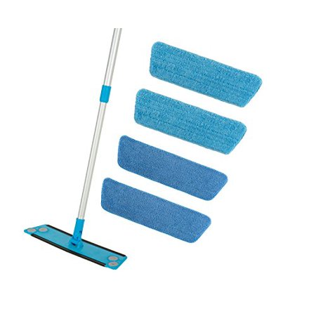 Microfiber Mop Kit (Simplee Cleen Microfiber Mop Kit with FOUR (4) Microfiber Pads 2 dust and 2 wet)