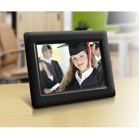 "Aluratek 7"" Digital Photo Frame with Automatic Slideshow and True Color LCD Display (1024 x 600 resolution, 16:9 Aspect Ratio)"