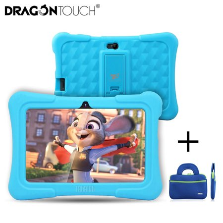 Dragon Touch 7' Y88X Plus Kids Children Tablets Quad Core 8G ROM Android 8.1 Tablet With Children Apps Gifts for Toddler +Tablet Bag(Blue)