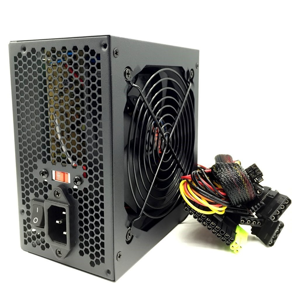 KENTEK 450 Watt 450W 120mm Fan Black ATX Power Supply 12V SATA 20/24 Pin Intel AMD by KENTEK