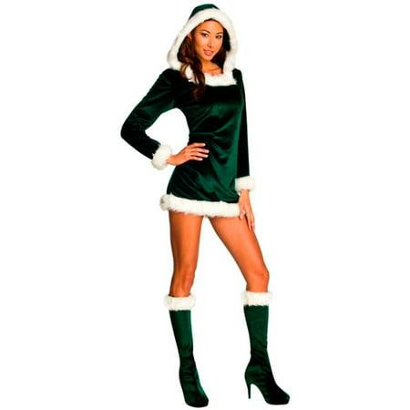 Womens Sexy Green Helper Costume