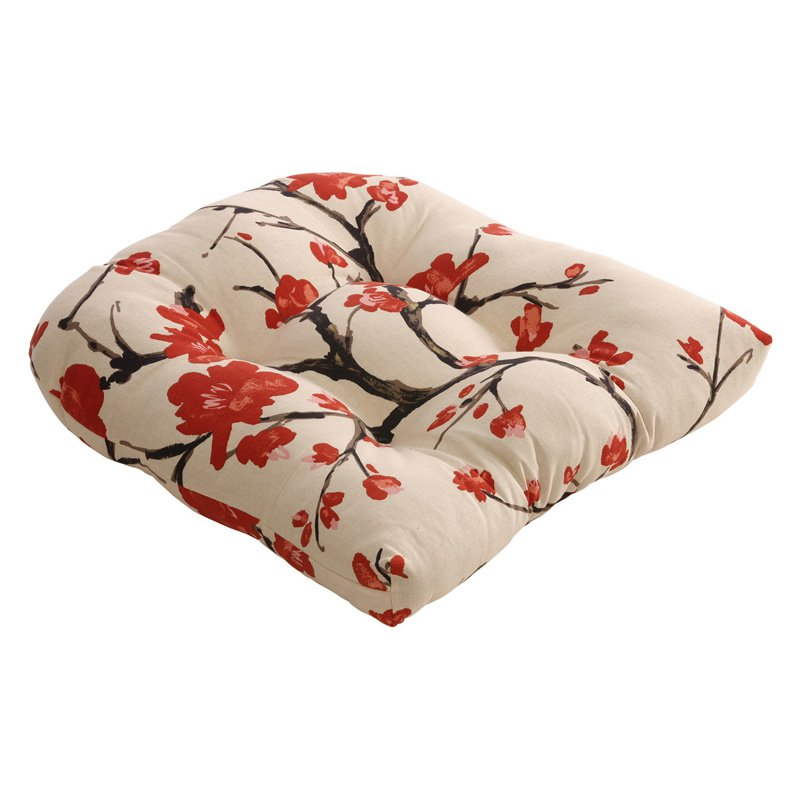 Pillow Perfect Flowering Outdoor Dining Chair Cushion