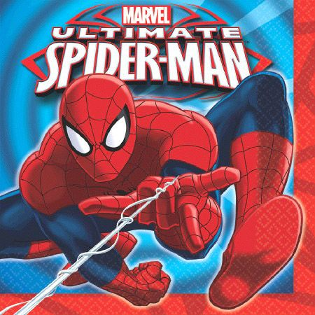 Spiderman Luncheon Napkins (16 Pack) - Party Supplies 233801