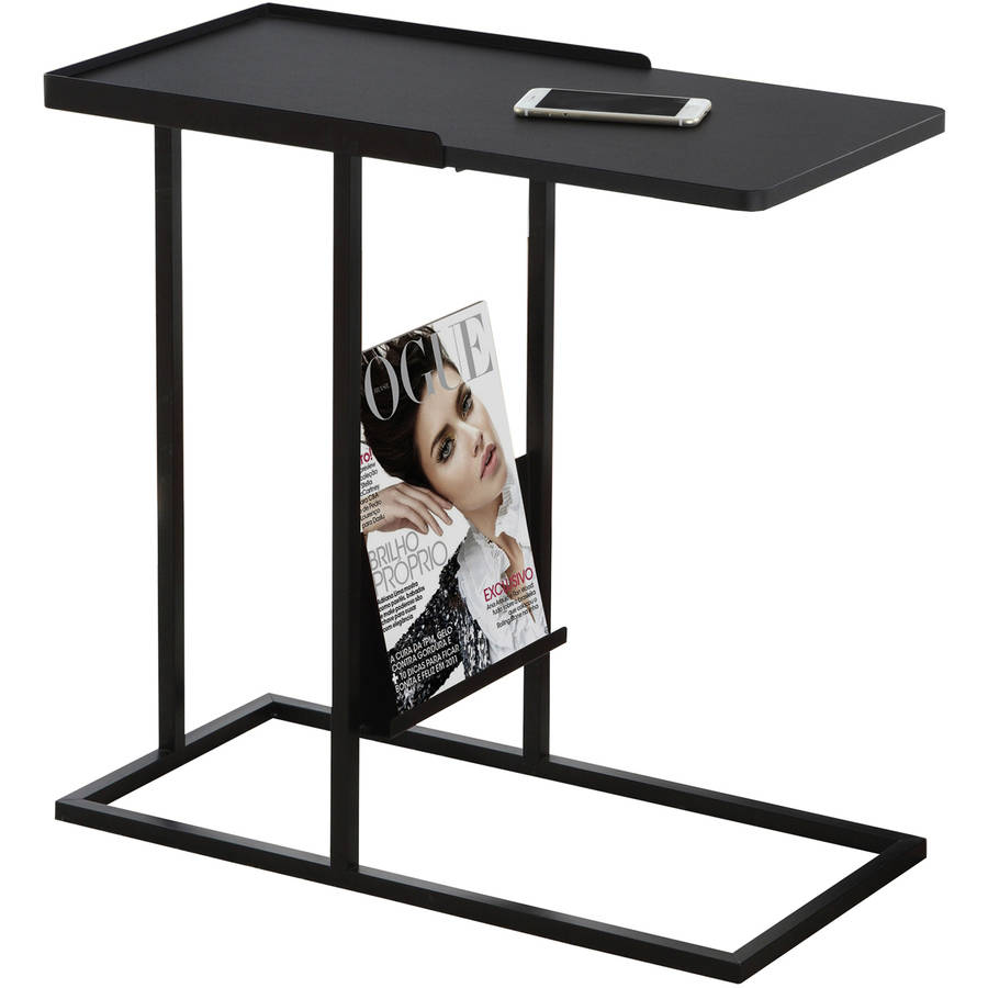 Click here to buy Accent Table with Magazine Rack, Black Black Metal by Monarch Specialties Inc.
