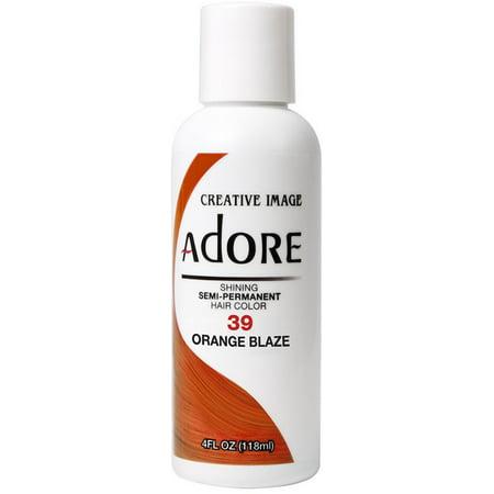 Creative Images Systems Adore Semi-Permanent Haircolor [039] Orange Blaze 4 oz (Burnt Orange Color Hair)