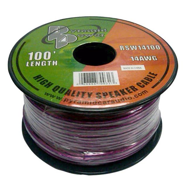 Pyramid RSW14100 14 Gauge 100 ft. Spool of High Quality Speaker Zip Wire- Colors may vary