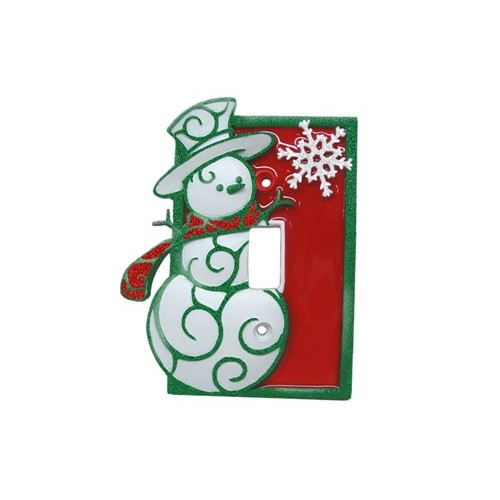 Borders Unlimited Snowman Single Switch Plate