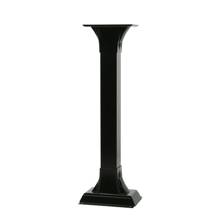Gibraltar Mailbo Callaway Height Adjule Cast Aluminum Pedestal Black Mailbox Post Cp000b00