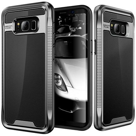 Galaxy S8 Plus Case  E Lv Galaxy S8 Plus   Hybrid  Scratch Dust Proof  Armor Defender Slim Shock Absorption Bumper Case For Samsung Galaxy S8 Plus    Black Gunmetal