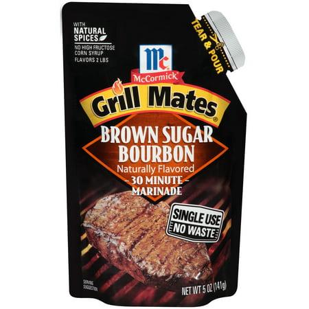 (3 Pack) McCormick Grill Mates Brown Sugar Bourbon Single Use Marinade, 5 oz