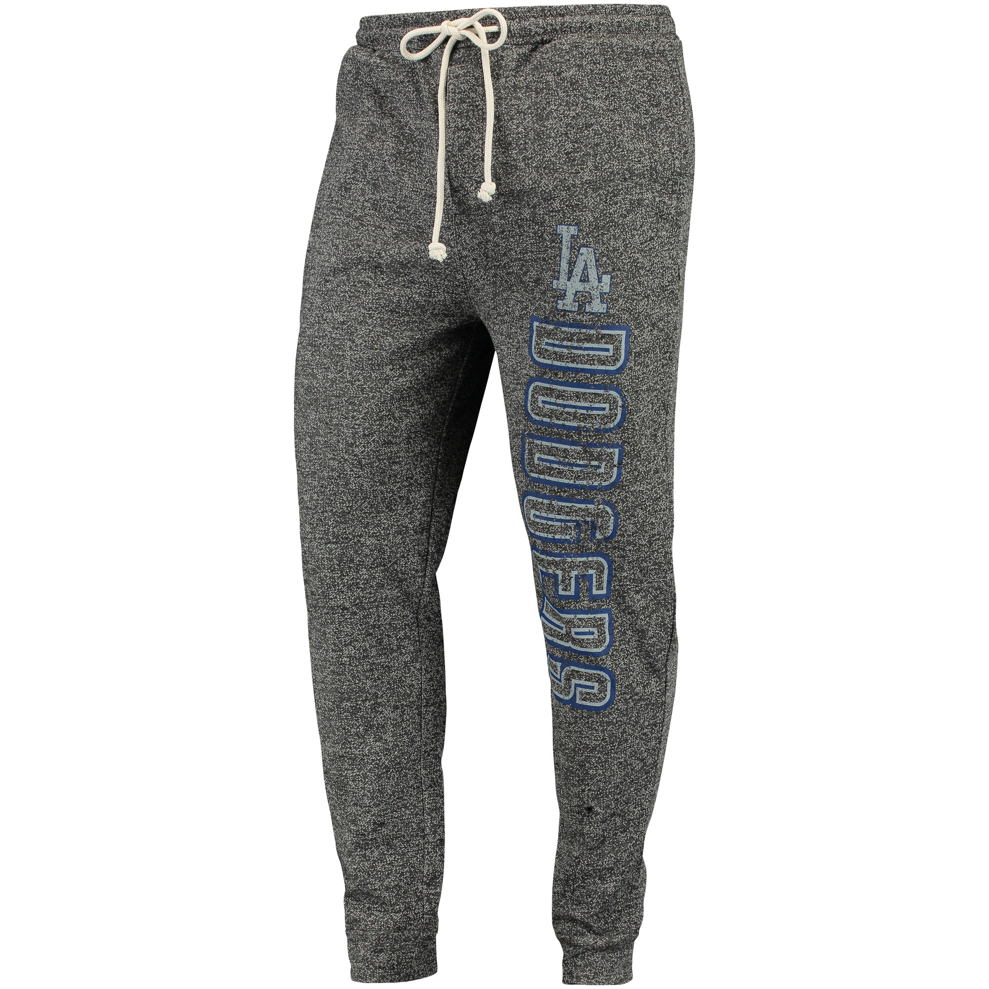Los Angeles Dodgers Concepts Sport Pinpoint French Terry Cuffed Pant - Charcoal