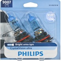 Philips Crystalvision Ultra Headlight 9007, Px29T, Clear, Always Change In Pairs!
