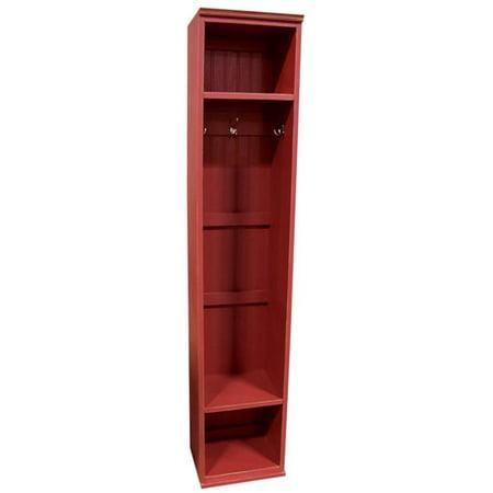 Sawdust City Entryway Storage Locker, Antique Red ()