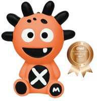 The Mibblers 100% Natural Rubber Teething Squeak Toy Baby Teether ~ Coral
