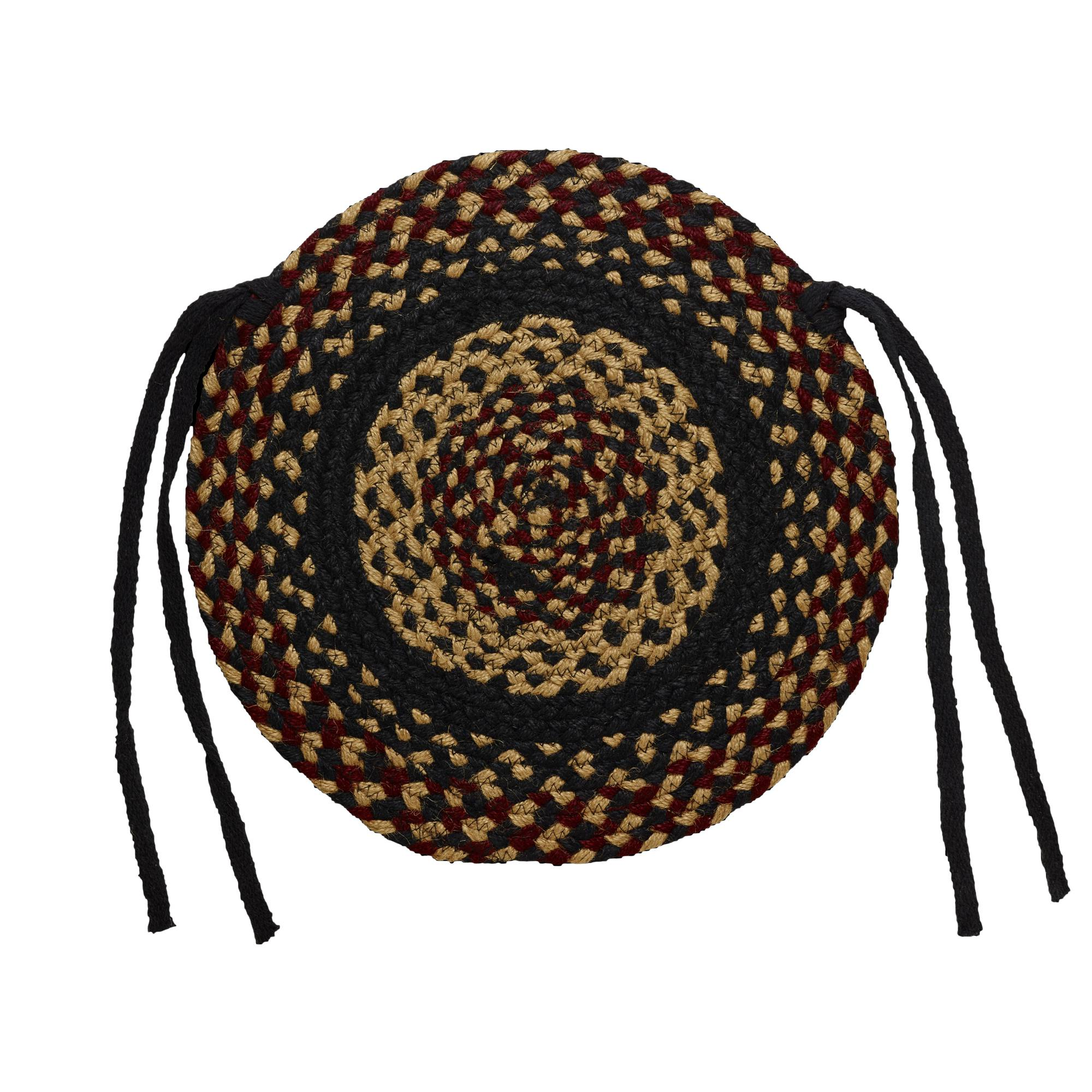 Perfect Braided Chair Pads Country Primitive By IHF   Set Of 4   Walmart.com