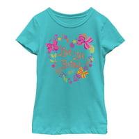 Jojo Siwa Girls' Live Life Bright Heart T-Shirt