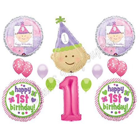 XL Baby Girl 1st First Happy Birthday Party balloons Decorations Supplies