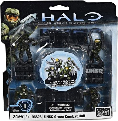 Halo UNSC Green Combat Unit Set Mega Bloks 96826 by Mega Brands