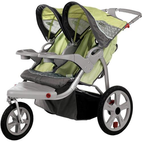 InSTEP Safari Swivel Double Jogging Stroller - Walmart.com