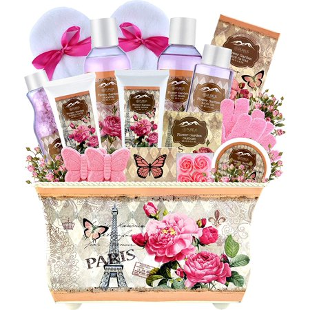 Home Spa Gift Baskets for Women - Deluxe Bath Basket Spa Set Gardener Gift Baskets - Purelis Natural Spa Baskets for Women Gift The #1 Care Packages for Women! Bath Chocolate Gift Basket