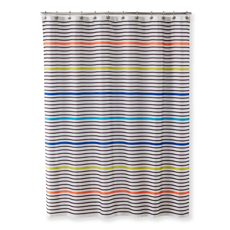 Better Homes & Gardens Color Pop Stripe Shower Curtain
