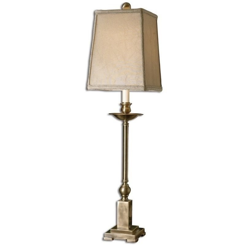 Uttermost lowell buffet lamp in lightly aged bronze