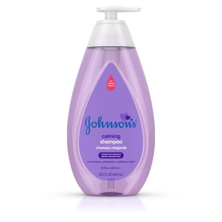 (2 Pack) Johnson's Calming Baby Shampoo with NaturalCalm Scent, 20.3 fl. (Peppermint Scented Shampoo)