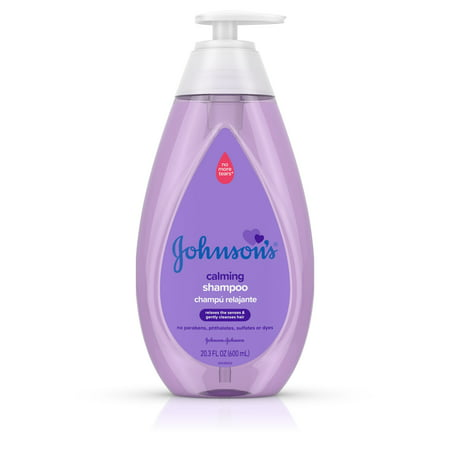(2 Pack) Johnson's Calming Baby Shampoo with NaturalCalm Scent, 20.3 fl. (Back To Basics Scented Shampoo)