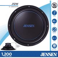 JENSEN J12W 12 Subwoofer | 1,200 Watts Peak Power | Polypropylene Woofer Cone | Reinforced Stamped Steel Basket | 40oz Magnet