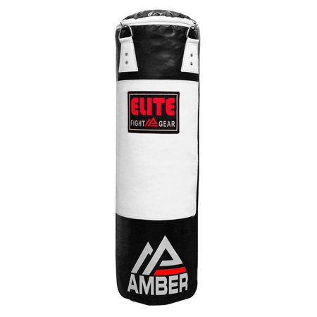 Amber Elite Heavy bag Boxing Muay Thai MMA Fitness Workout Training Kicking Punching unfilled Empty 6ft Heavy Bag, (Best Muay Thai In Mma)