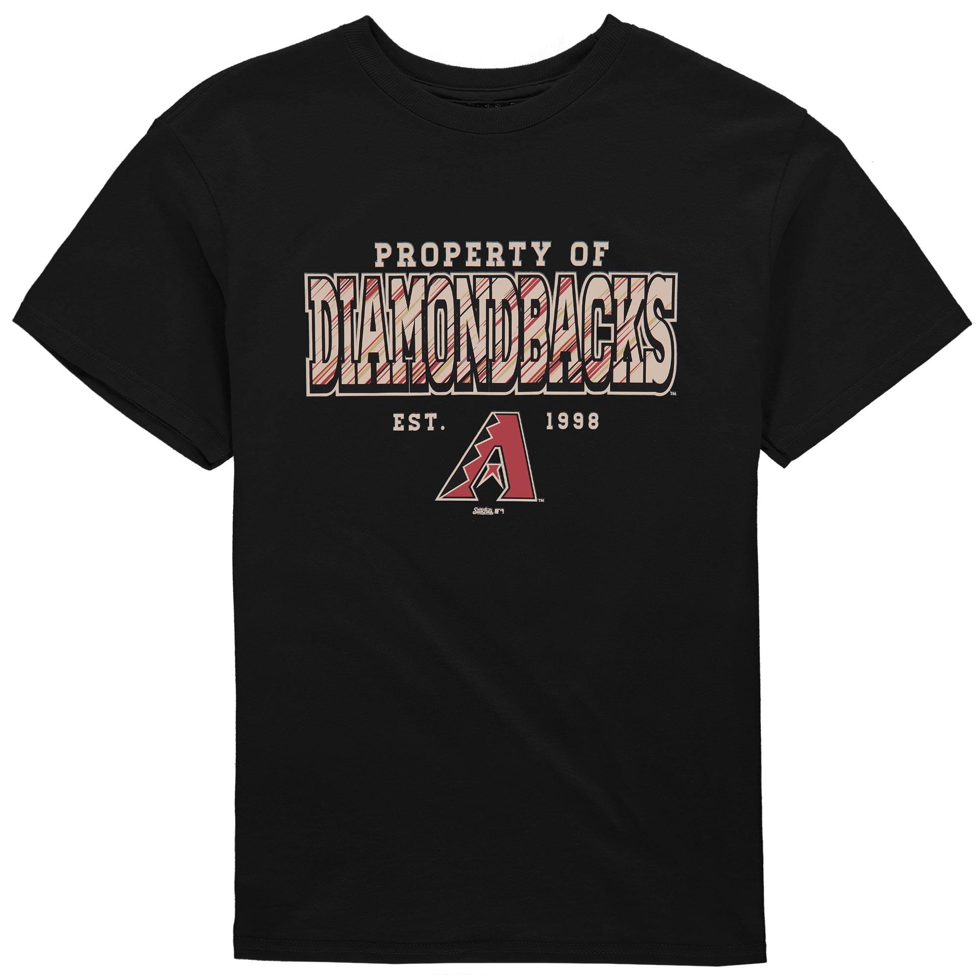Arizona Diamondbacks Stitches Youth Property Of Team T-Shirt - Black