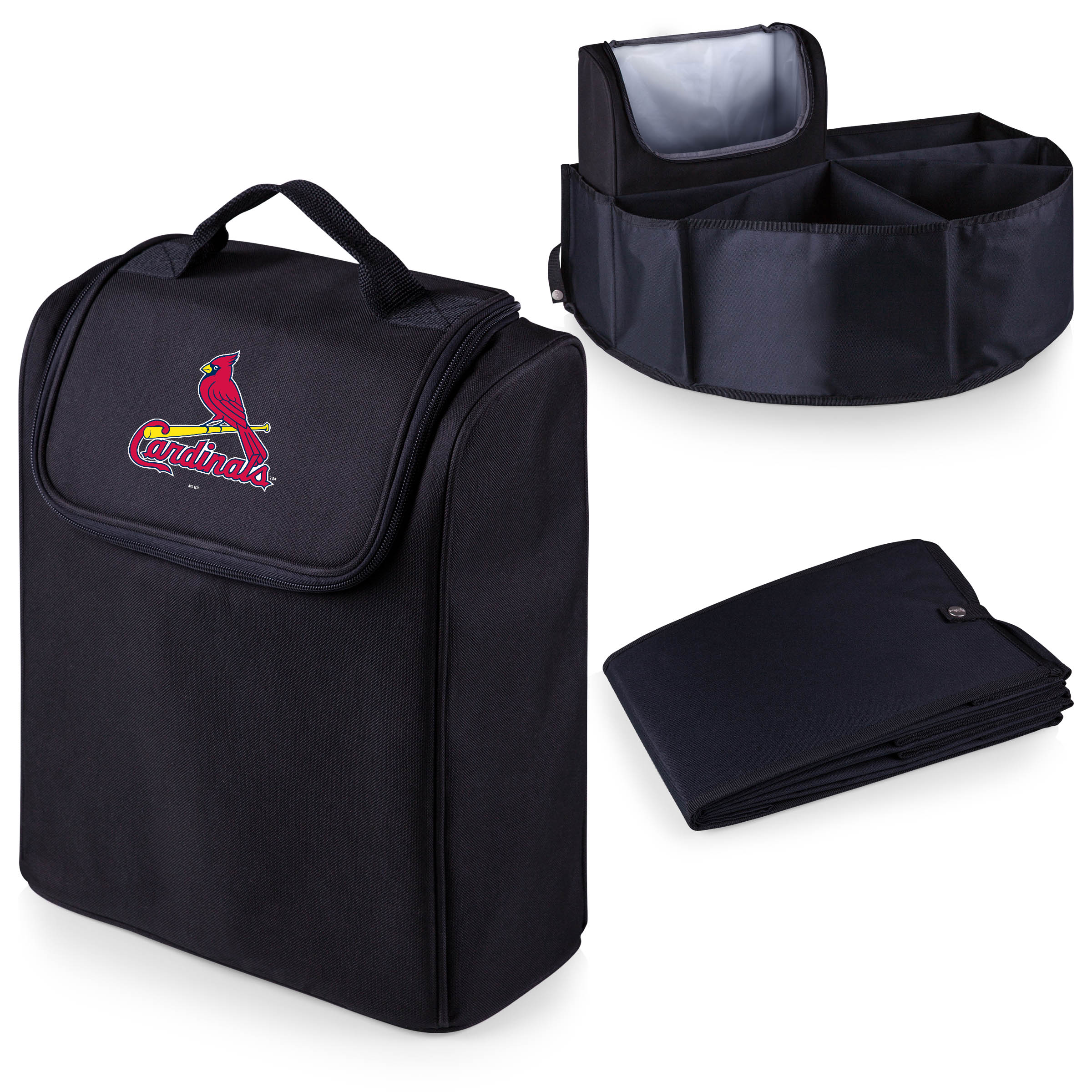 St. Louis Cardinals Trunk Boss Organizer with Cooler - Black - No Size