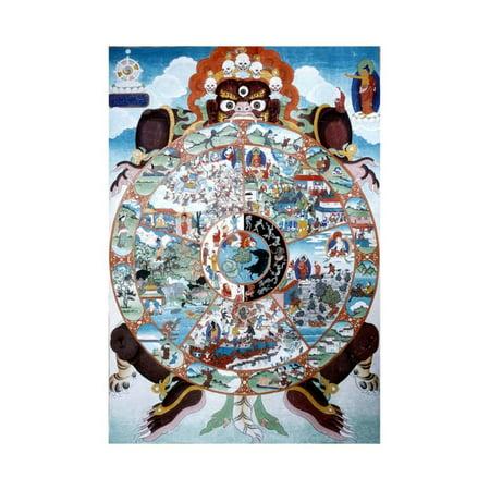 The Wheel of Life, Tibet, 19th-20th Century Asian Art Print Wall Art ()