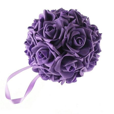 Soft Touch Flower Kissing Balls Wedding Centerpiece, 6-inch (Kissing Ball Centerpieces)