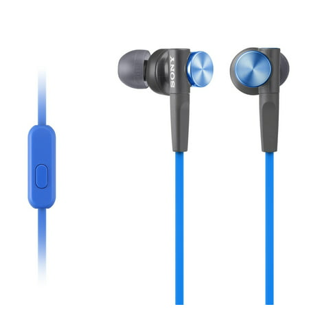 Sony MDR-XB50AP Blue Extra Bass Stereo Headphones