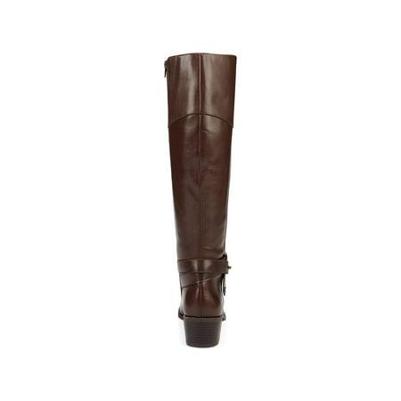 72b7750956a7 Alfani - Alfani Womens Berniee Leather Round Toe Knee High Fashion Boots -  Walmart.com