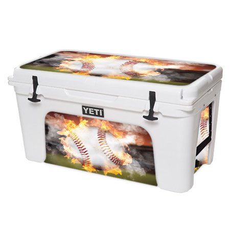 MightySkins Skin For YETI Tundra 110 qt Cooler Lid – Acid Surf | Protective, Durable, and Unique Vinyl Decal wrap cover | Easy To Apply, Remove, and Change Styles | (Skin Cooler Tri Jersey)