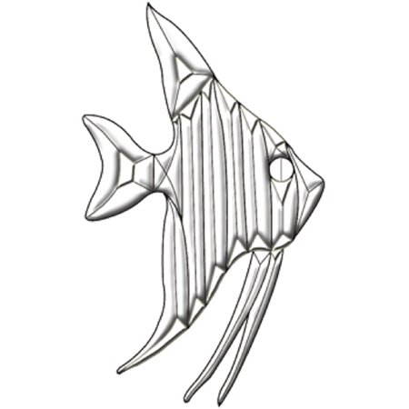 Clear Beveled Glass Angel Fish Bevel Cluster for Stained