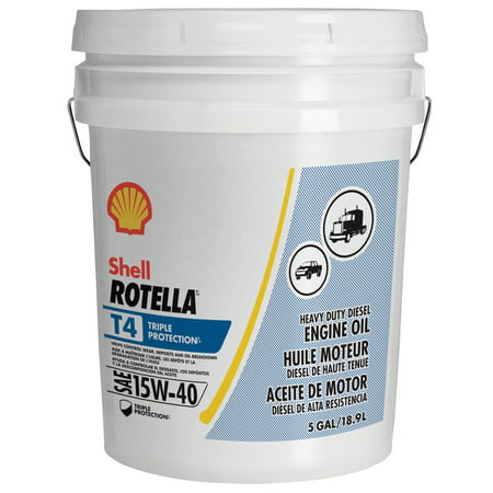 Shell Rotella T4 Triple Protection 15W-40 Diesel Engine Oil, 5