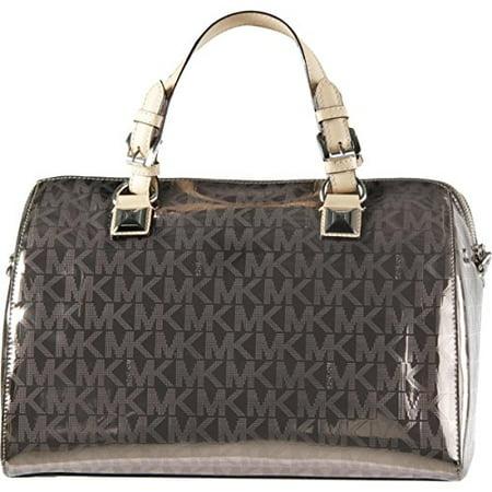 Michael Kors Metallic Satchel - MICHAEL Michael Kors Womens Grayson Convertible Satchel Handbag Metallic Large